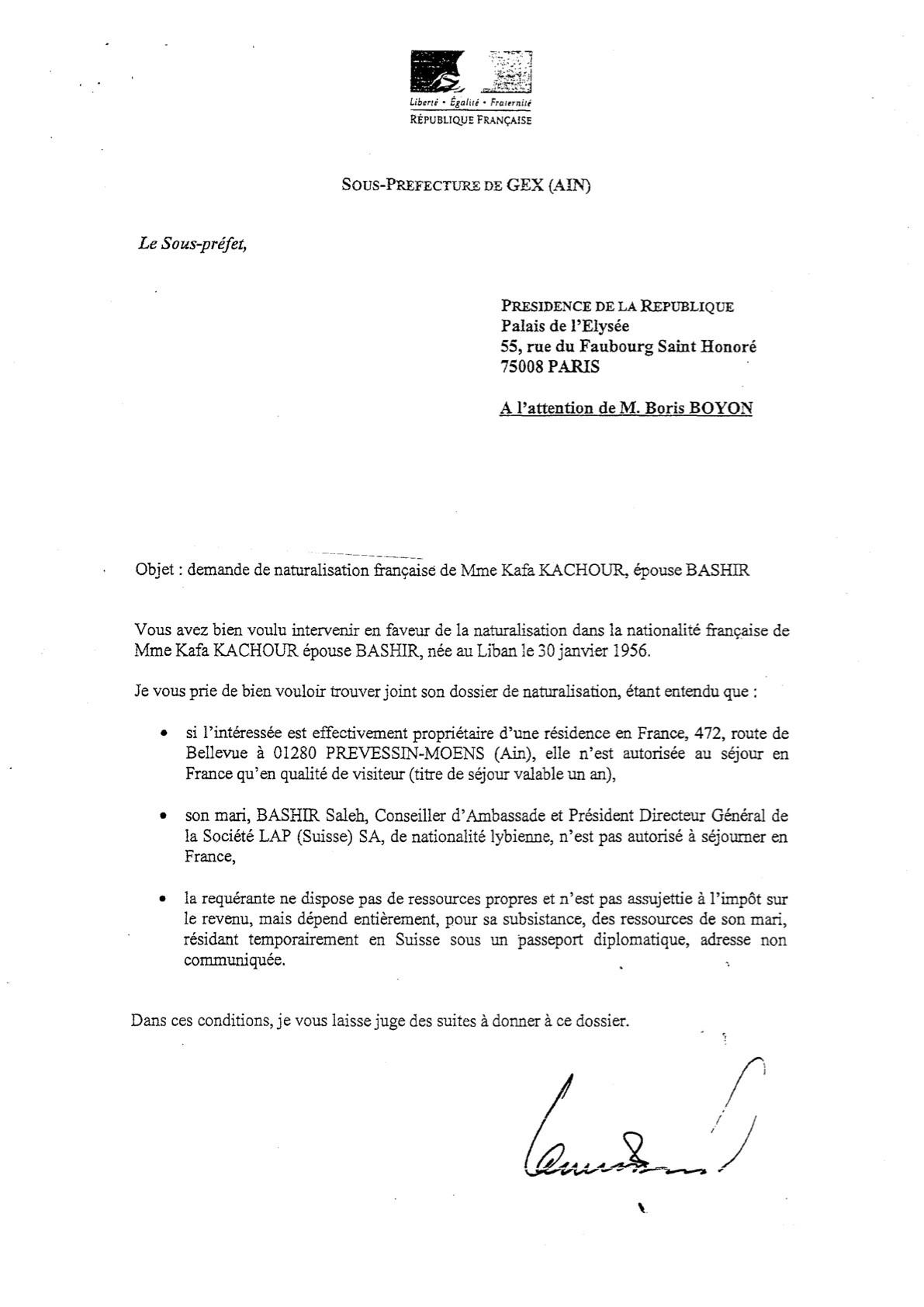 lettre de motivation sous prefecture