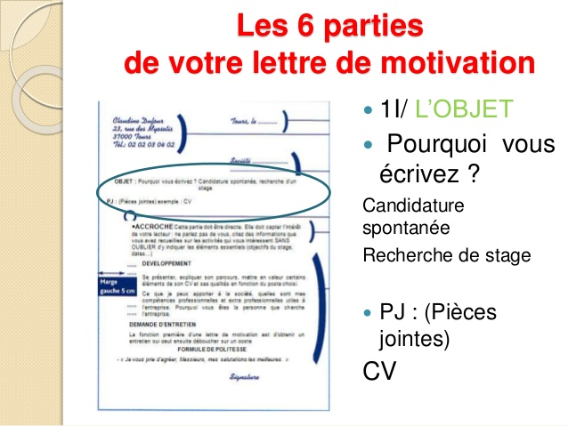 lettre de motivation par mail ou piece jointe