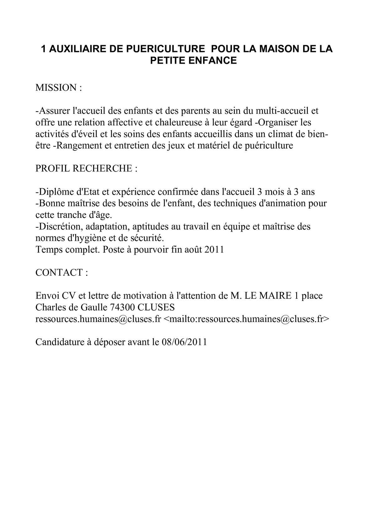 d u00e9poser cv et lettre de motivation