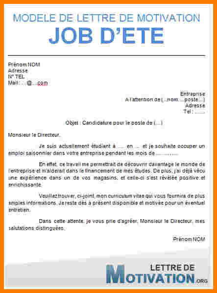 lettre de motivation pour un job  u00e9tudiant au mcdo