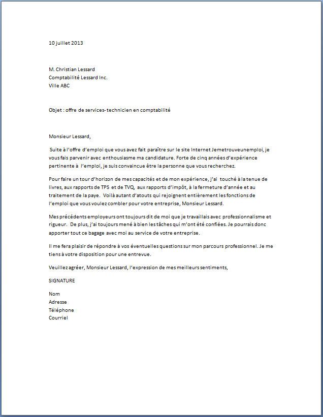 Exemple lettre de motivation serveuse avec experience