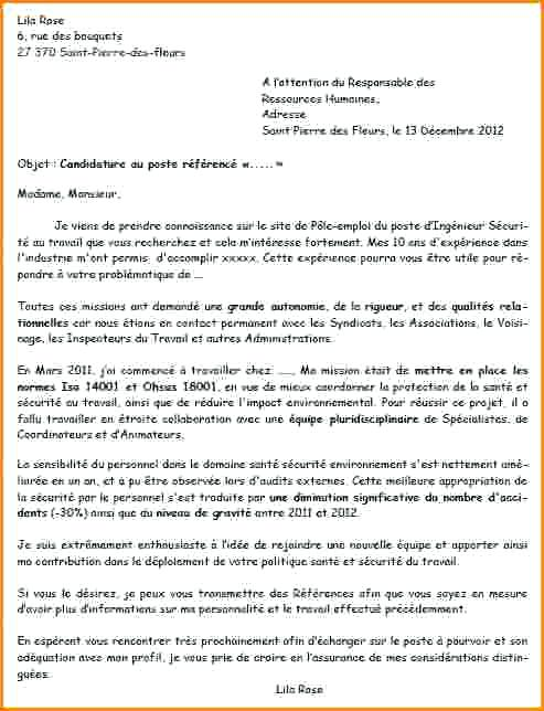 lettre de motivation agent de production industrie