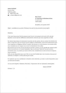 Lettre de motivation secretaire hotesse d'accueil - laboite-cv.fr