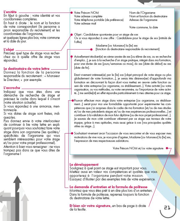 11 Lettre De Motivation Licence Psychologie: Cv Et Lettre De Motivation Stage