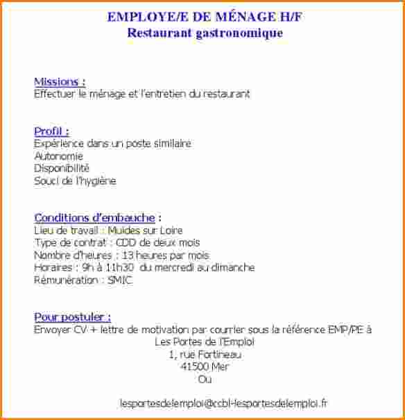 lettre de motivation agent d u0026 39 entretien et de nettoyage