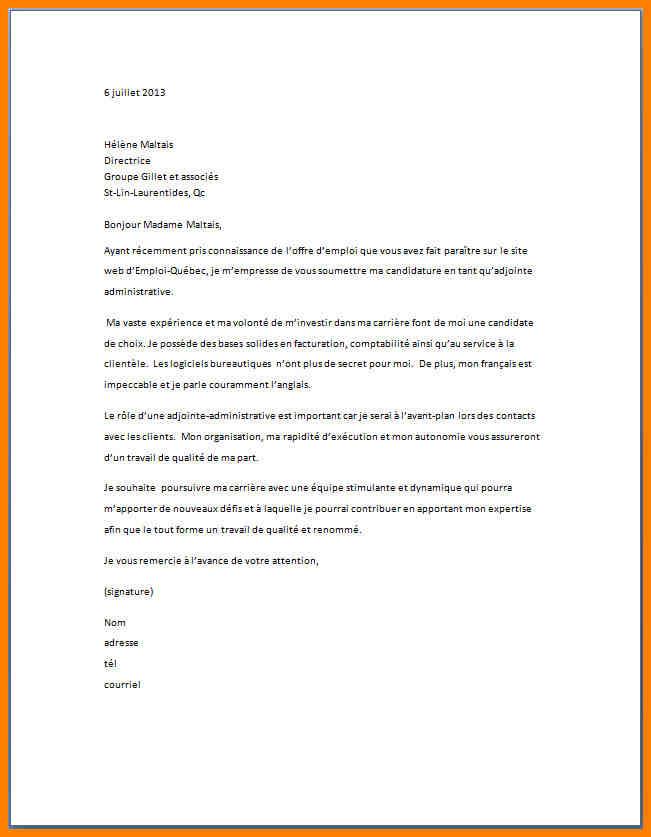 exemple lettre de motivation candidature spontan u00e9e agent