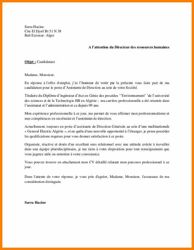 lettre de motivation stage  u00e0 l u0026 39 attention de