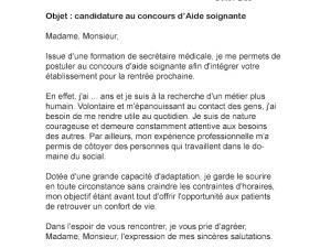 Modele Lettre De Motivation Pour Concours Aide Soignante Laboite Cv Fr