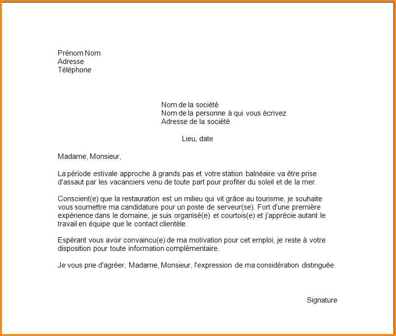 lettre de motivation employ u00e9 de station service sans experience