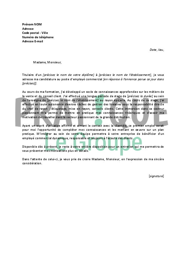 lettre de motivation employ u00e9 de pressing d u00e9butant