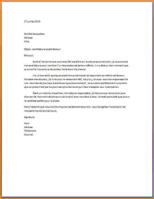 exemple lettre de motivation pour carrefour
