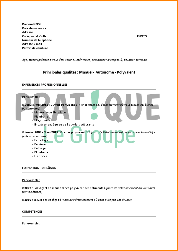 lettre de motivation agent de maintenance des b u00e2timents