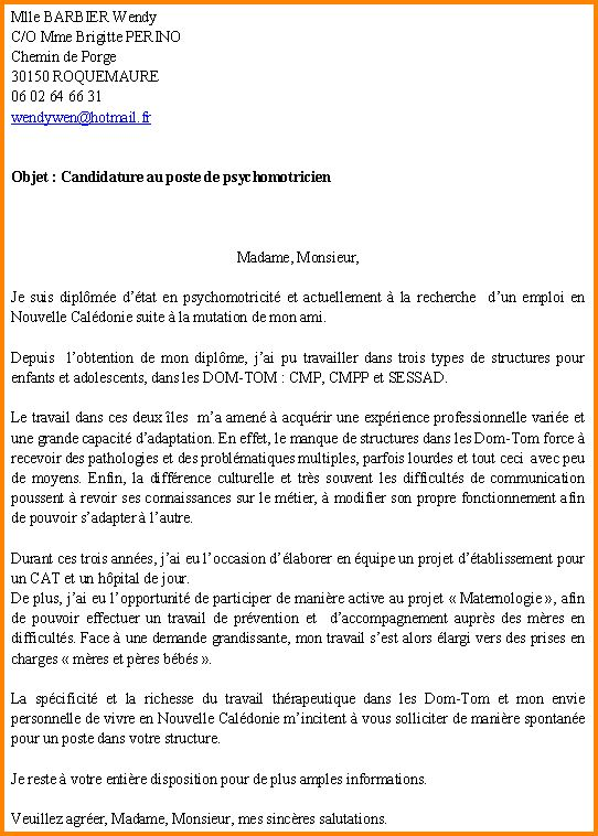 lettre de motivation cmp