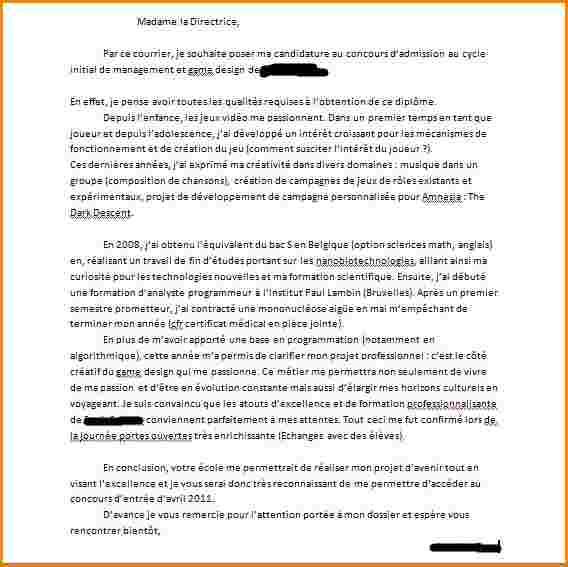 lettre de motivation science po exemple