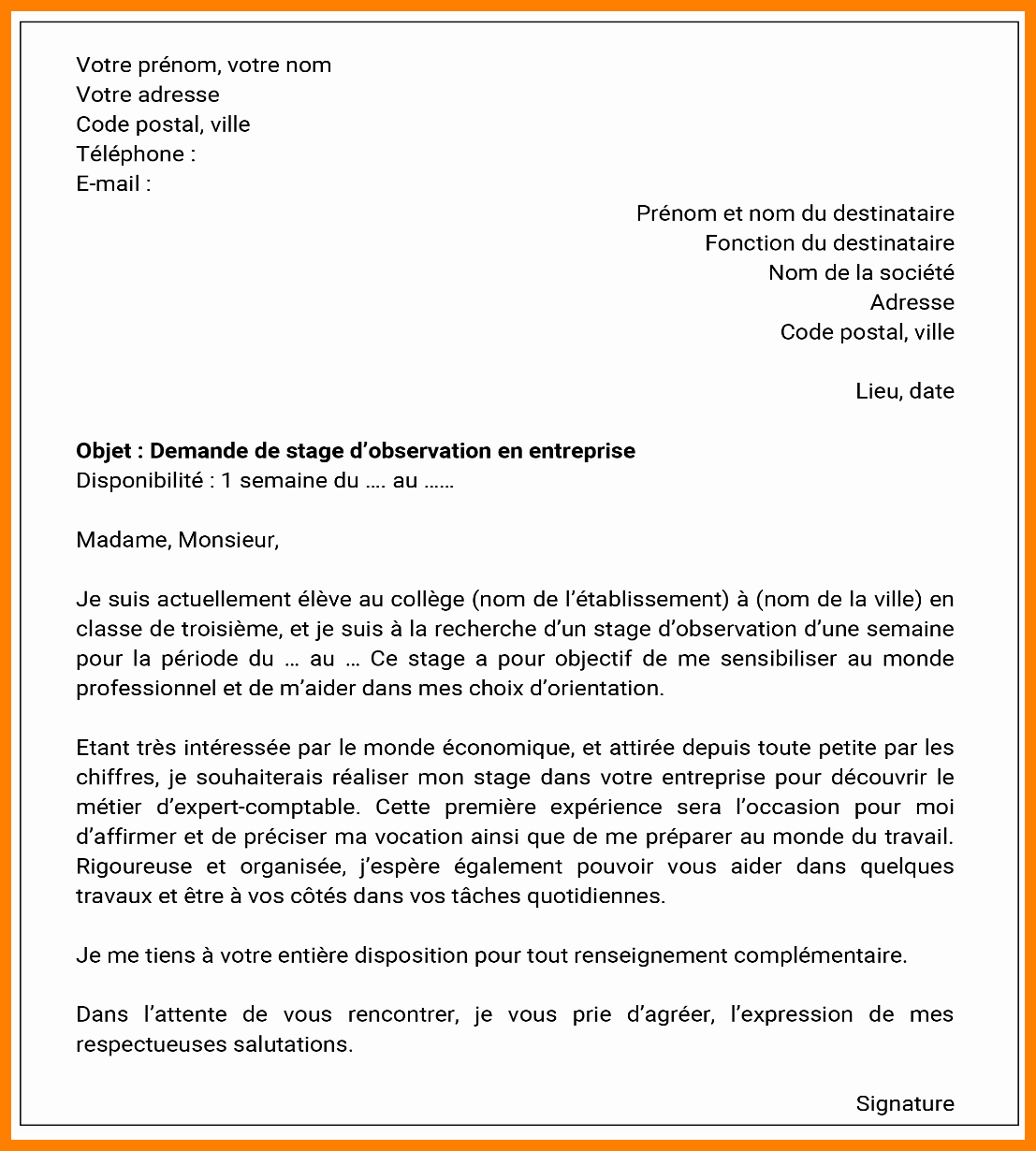 lettre de motivation ouvreuse theatre
