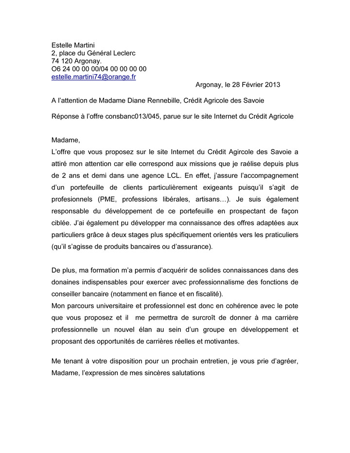 lettre de motivation assistante administrative gratuite