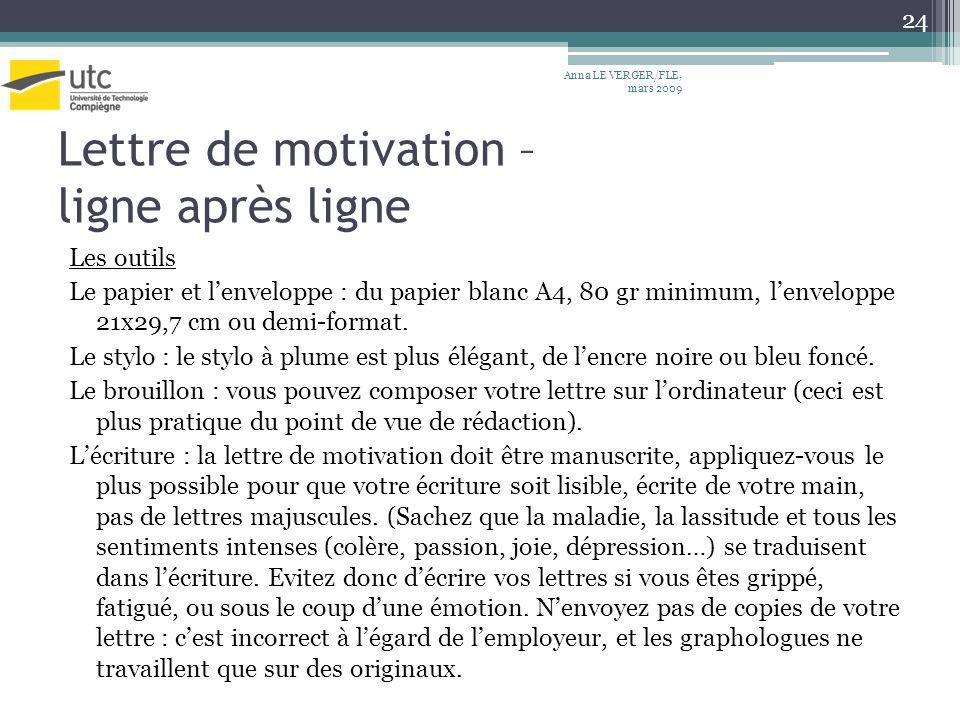 lettre de motivation stylo bleu ou noir