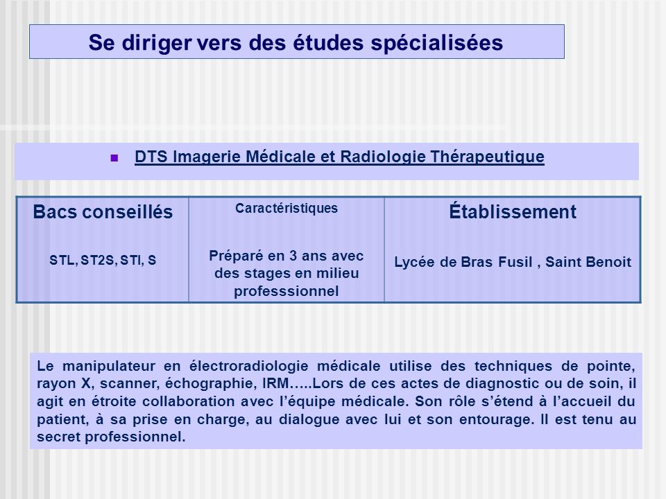lettre de motivation dts manipulateur en radiologie
