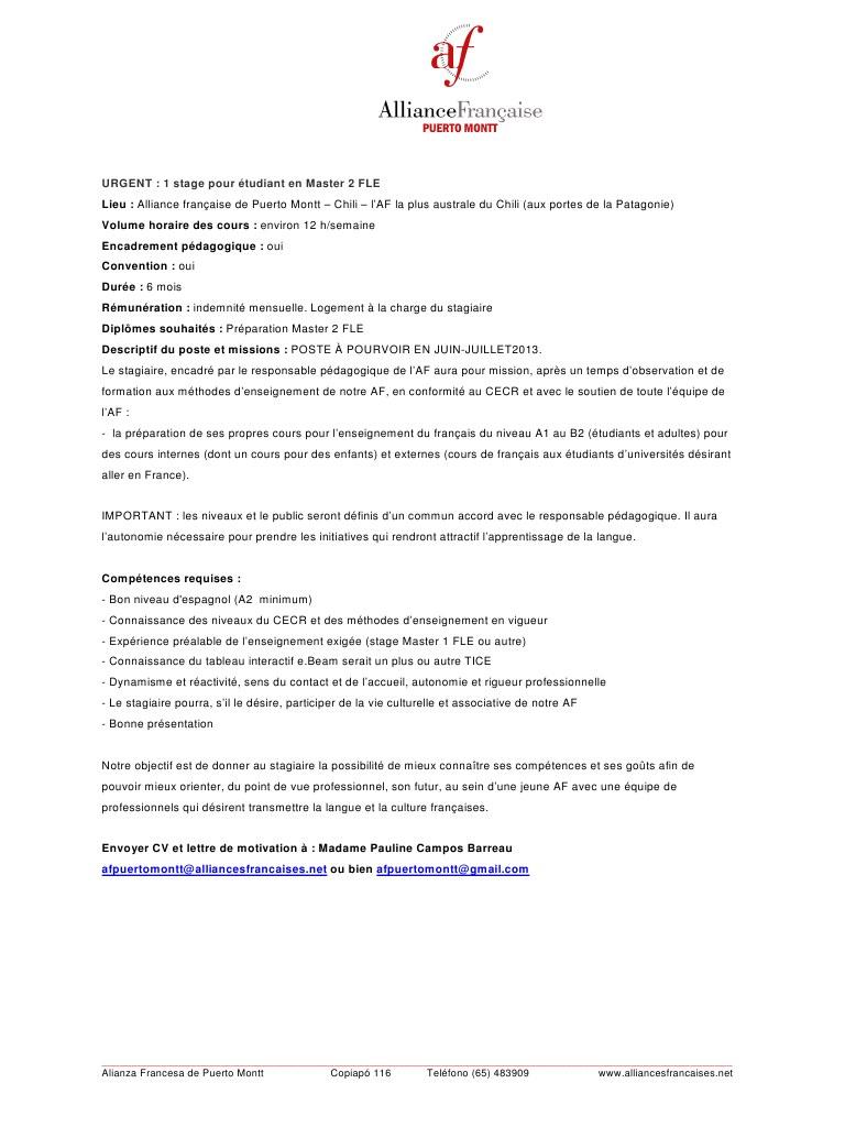 lettre de motivation pour master 2 recherche
