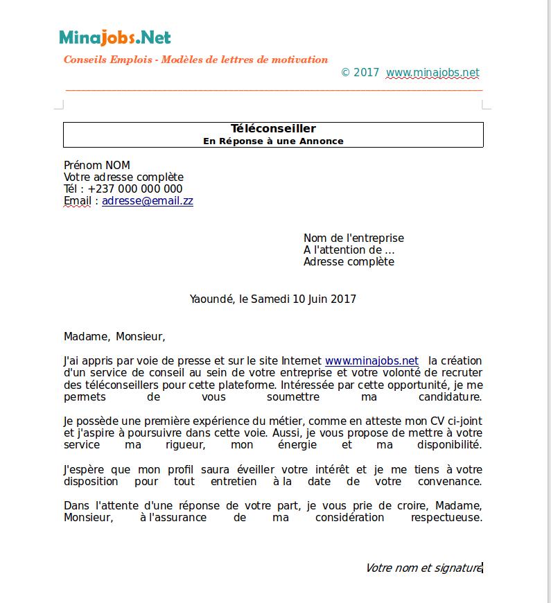 lettre de motivation cr u00e9ation d entreprise gratuit