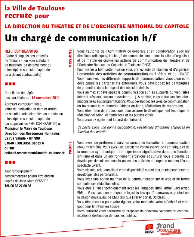 Lettre De Motivation Chef De Projet Communication Unique: Chargée De Communication Lettre De Motivation