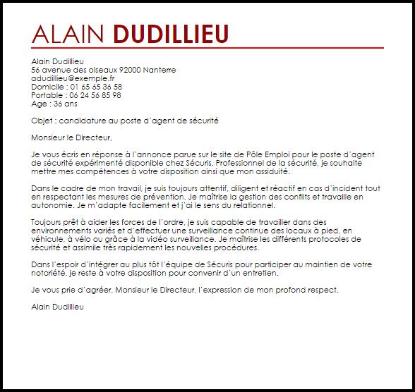 exemple de lettre de motivation pour agent d u0026 39 entretien des locaux