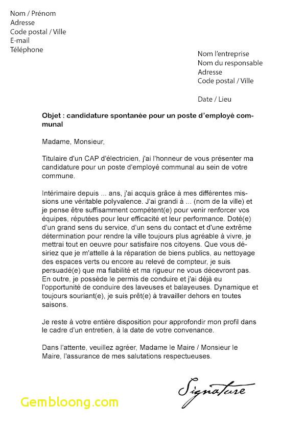 lettre de motivation pour le maire de ma commune