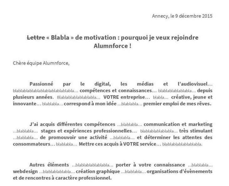 lettre de motivation responsable marketing et