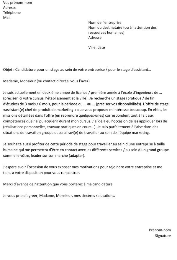 Taille lettre de motivation manuscrite