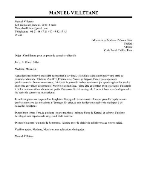 lettre de motivation conseiller funeraire