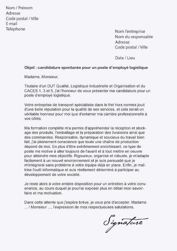 Lettre de motivation vendeur livreur - laboite-cv.fr