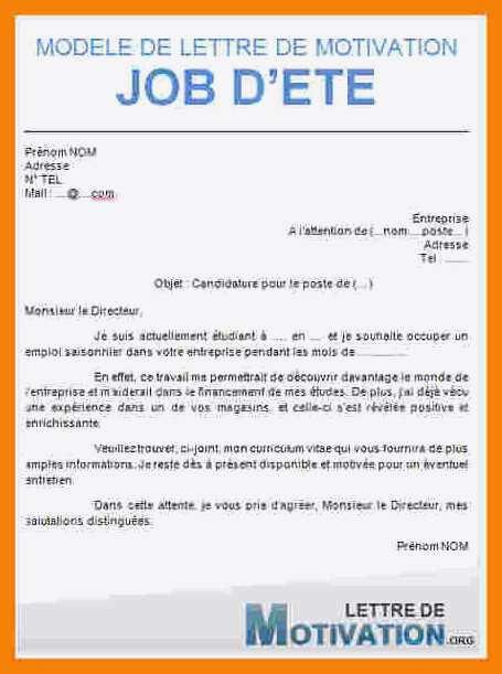 lettre de motivation mcdo job ete