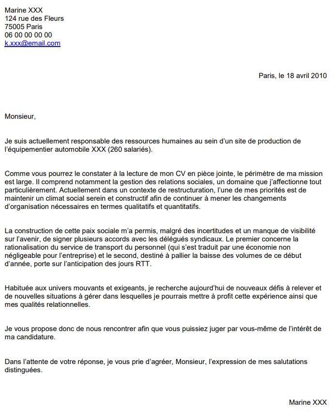 lettre de motivation charg u00e9 de recrutement candidature