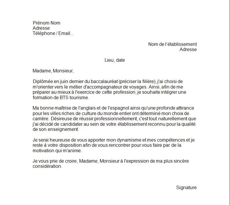 Lettre De Motivation Chef De Projet Informatique: Lettre De Motivation Snsm
