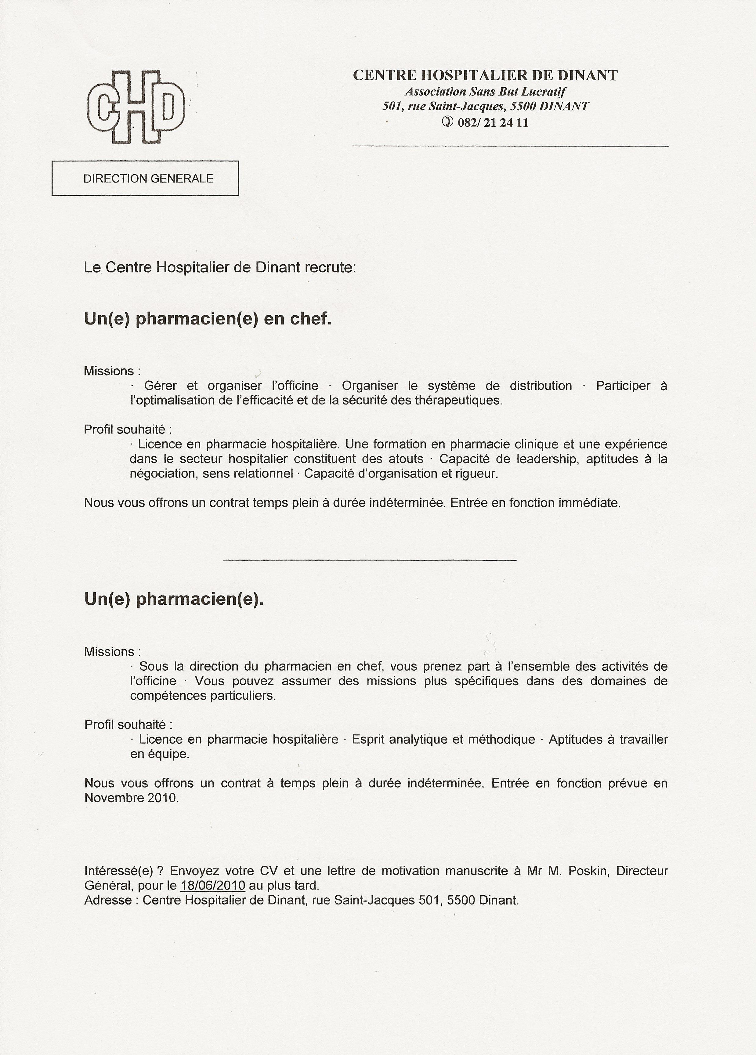 Lettre De Motivation Pharmacie Job D Ete Laboite Cv Fr