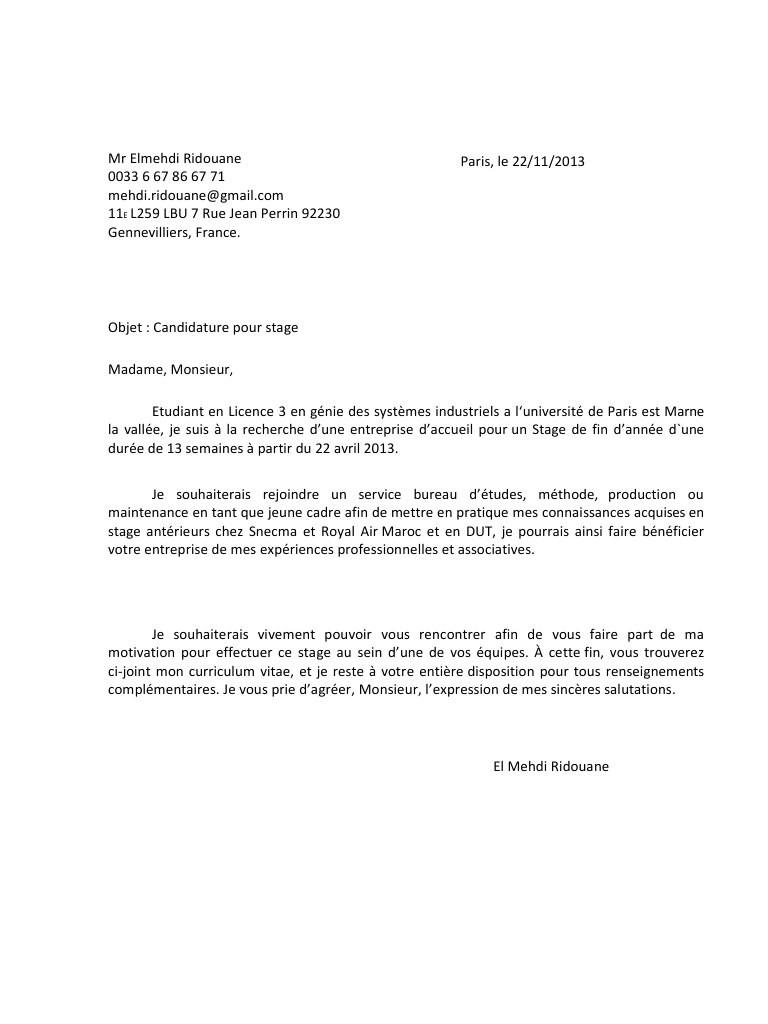 lettre de motivation pour hermes