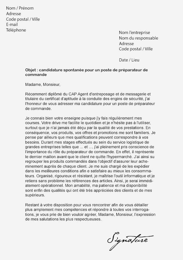 lettre de motivation leclerc etudiant