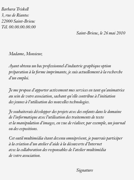 cv lettre de motivation job etudiant