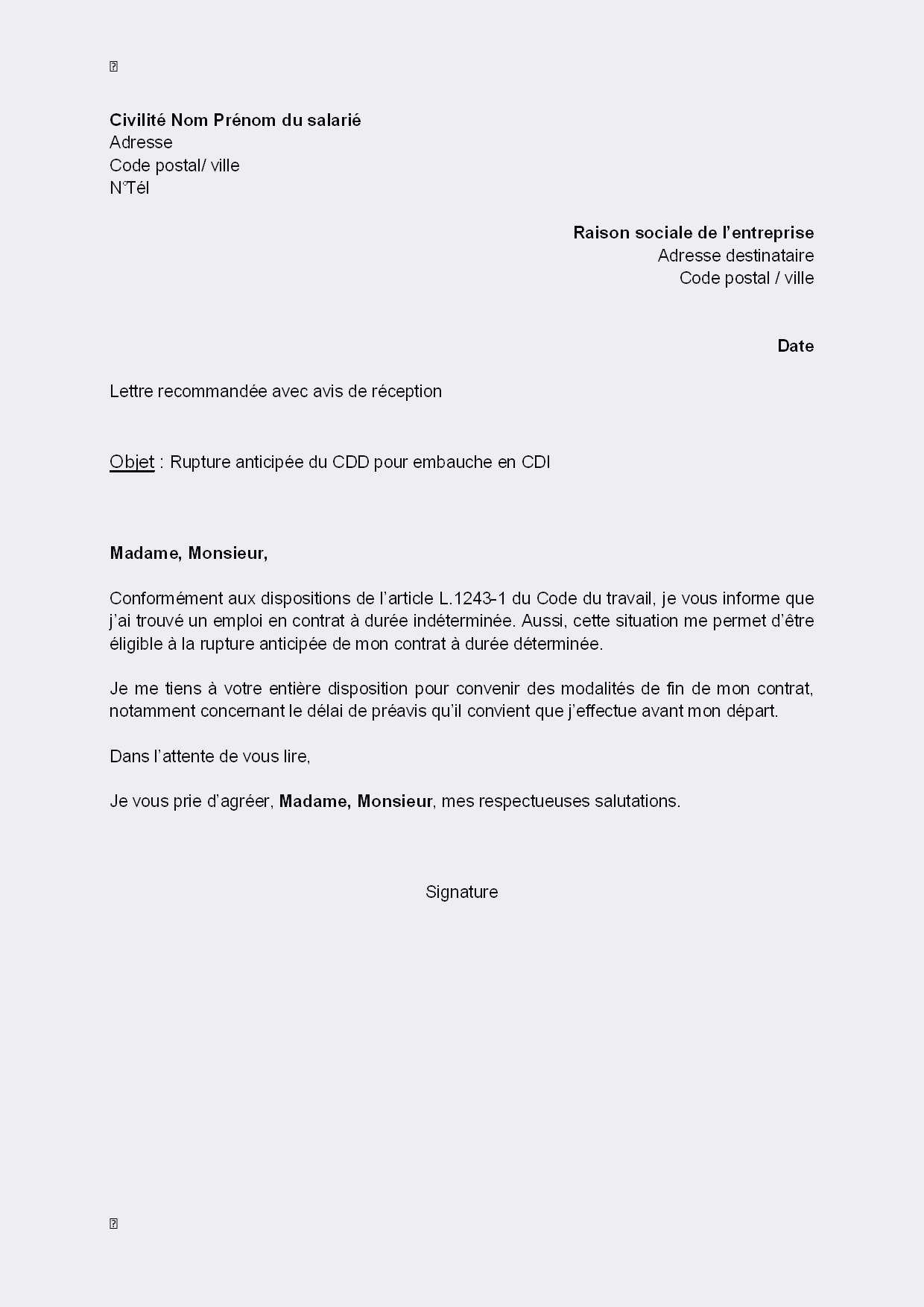 Exemple de lettre de motivation gratuite pour un emploi ...