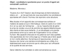 Modele Lettre De Motivation Candidature Spontanee Administration