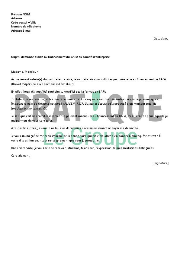 lettre de motivation pour aide financi u00e8re  u00e9tudiant