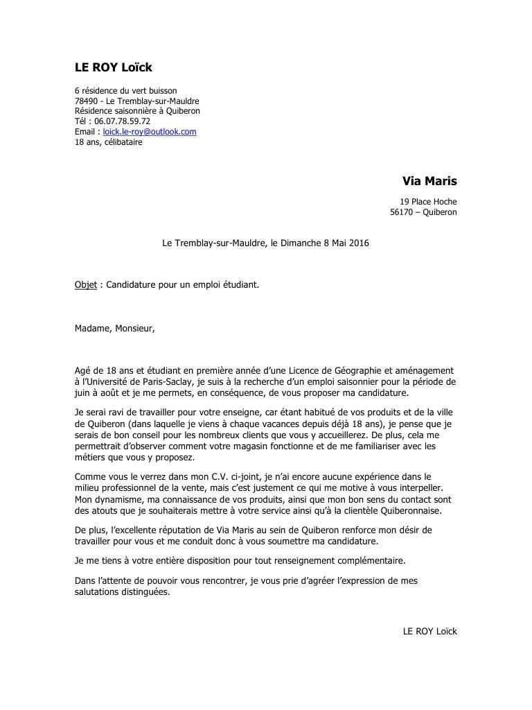 Lettre de motivation asvp sans experience - laboite-cv.fr