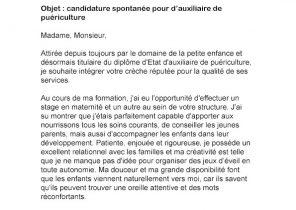 Modele De Lettre De Motivation Candidature Spontanee Auxiliaire De