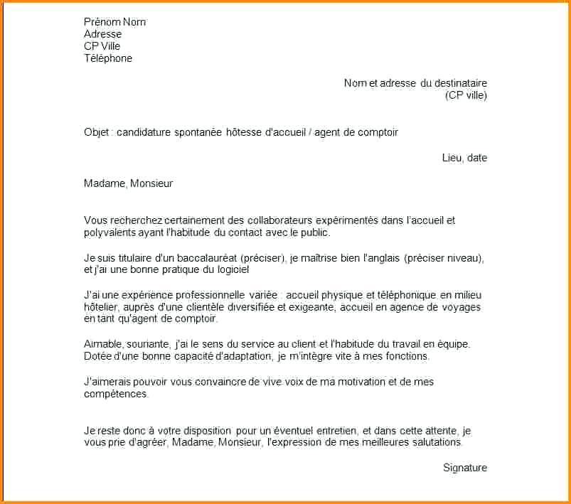 lettre de motivation candidature spontan u00e9e vendeuse pret a