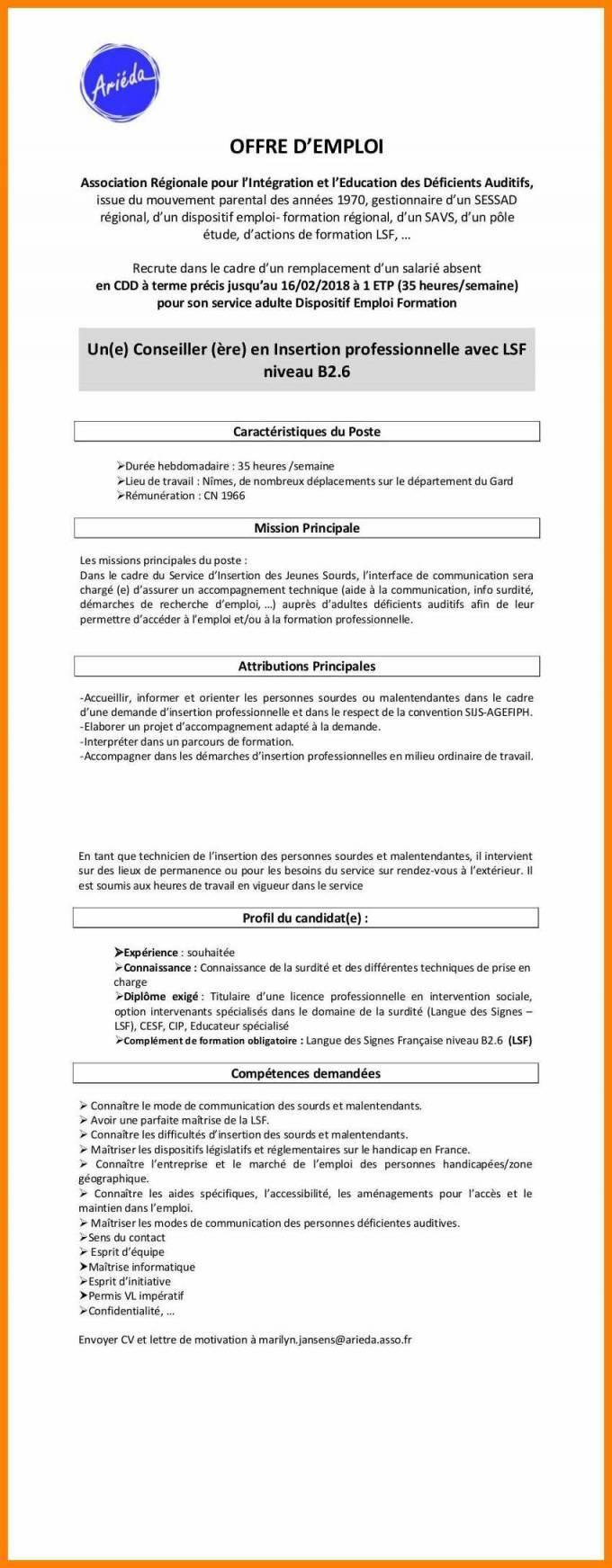 lettre de motivation conseiller emploi formation