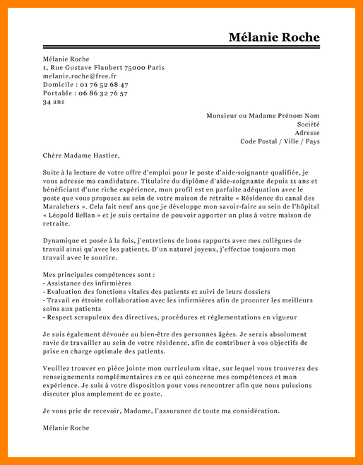 exemple de lettre de motivation pour infirmi u00e8re