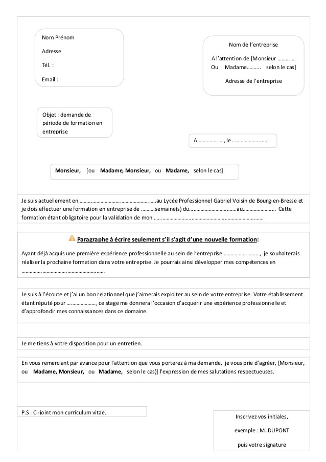 lettre motivation a l u0026 39 attention de