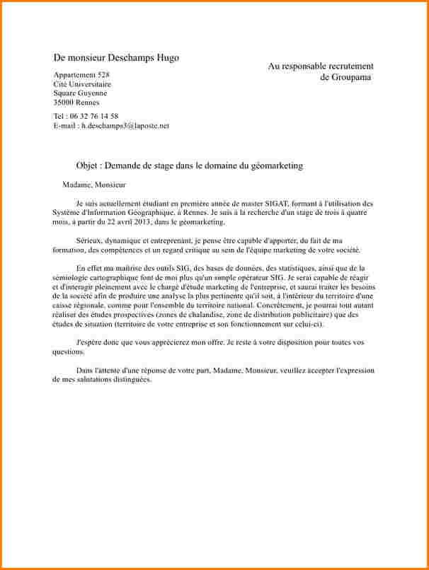 lettre de motivation l u0026 39 etudiant
