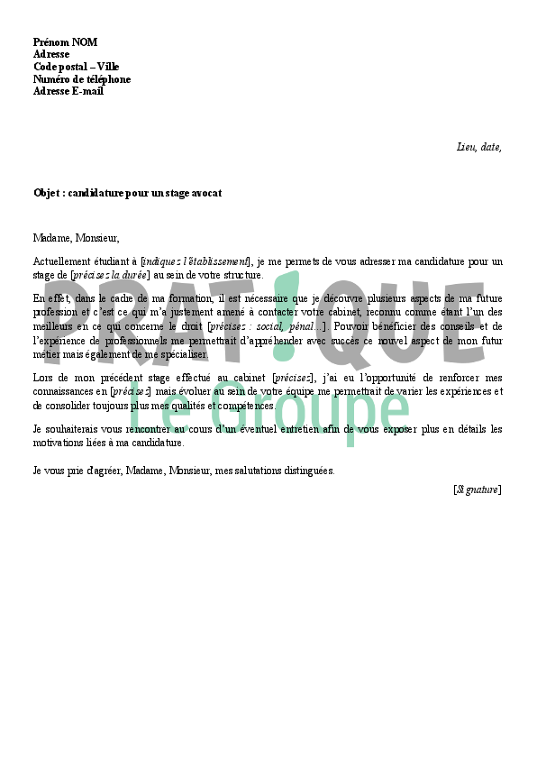 stage d u0026 39 immersion lettre de motivation