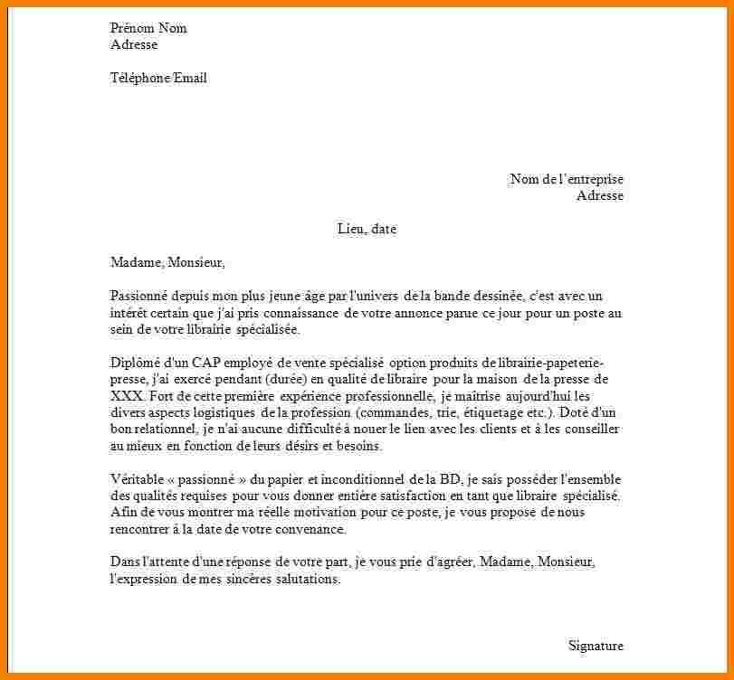 exemple de lettre de motivation pour un cdi interimaire